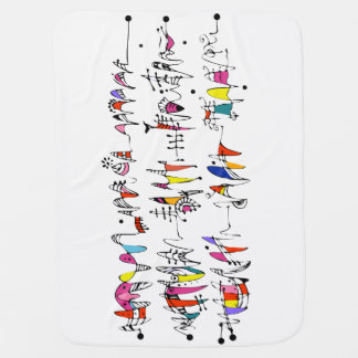 Abstraction from undulating lines baby blanket