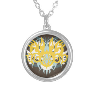 Abstraction Nine Imperious Silver Plated Necklace
