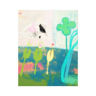 Abstraction of my flower garden canvas print