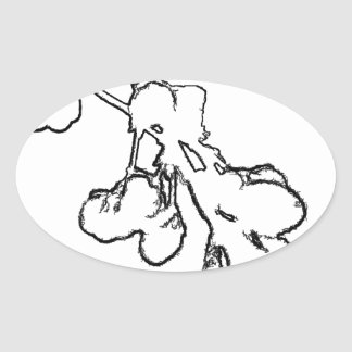 Abstraction Oval Sticker