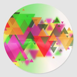 abstraction round sticker