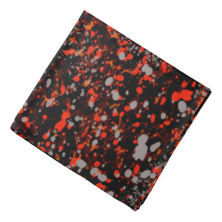 Abstraction Seamless Dot Dabs Red Black And Gray Bandana