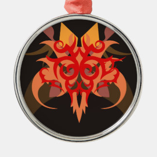 Abstraction Six Ares Metal Ornament