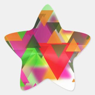 abstraction star sticker