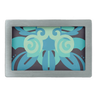 Abstraction Two Poseidon Rectangular Belt Buckle