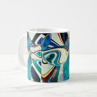 Abstraction with Geometric Spirit Coffee Mug