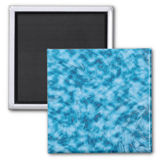 Abstractly Art  Blue And White Background Magnet