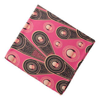 Abstractly Art Grey And Pink Glitter Background Bandana