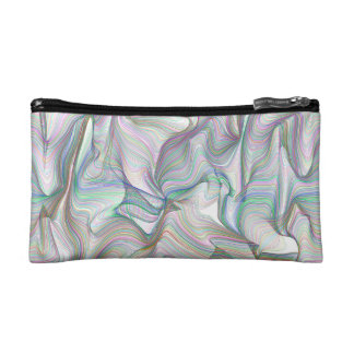 Abstractly Art Multi Color Contorted Waves Makeup Bag