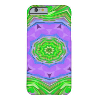 Abstractly Art Purple And Green Star Barely There iPhone 6 Case