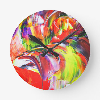 Abstractly in perfection 6 round clock