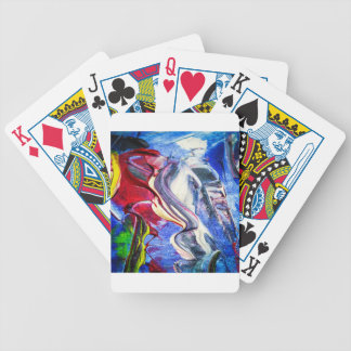 Abstractly in perfection bicycle playing cards