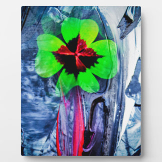 Abstractly in perfection luck plaque