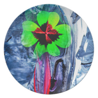 Abstractly in perfection luck plate