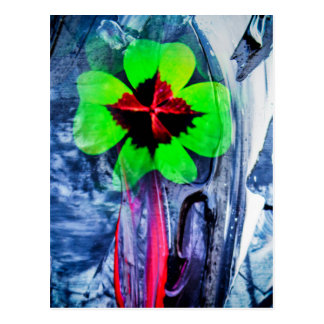 Abstractly in perfection luck postcard