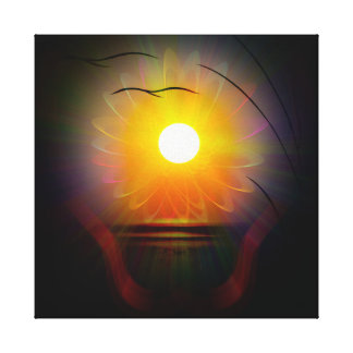 Abstractly in perfection - Sunset Canvas Print