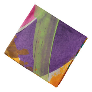 Abstractly Multi Color Art Bandannas