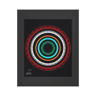 "Abstractly ""tunnels "" canvas print"