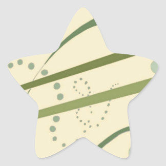 Abstractus Yellow Olive Green Abstract Modern Art Star Stickers