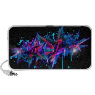 Abstrakt Graffiti Notebook Speaker