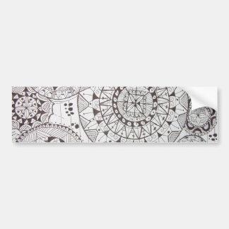 abstrato com formas geometricas bumper sticker