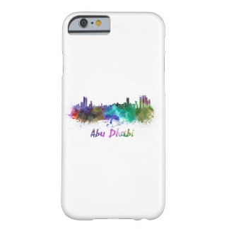 Abu Dhabi skyline in watercolor Barely There iPhone 6 Case