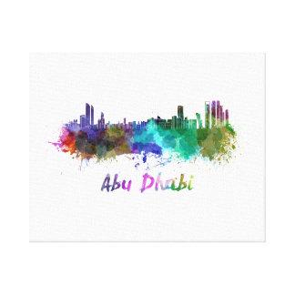 Abu Dhabi skyline in watercolor Canvas Print