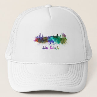 Abu Dhabi skyline in watercolor Trucker Hat