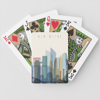Abu Dhabi, United Arab Emirates | City Skyline Bicycle Playing Cards