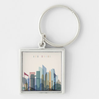 Abu Dhabi, United Arab Emirates | City Skyline Key Ring