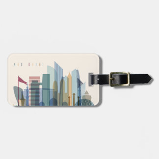 Abu Dhabi, United Arab Emirates | City Skyline Luggage Tag