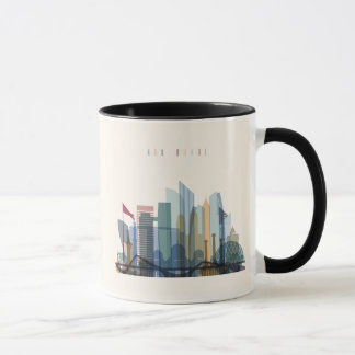 Abu Dhabi, United Arab Emirates | City Skyline Mug