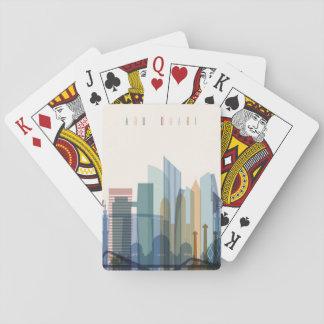 Abu Dhabi, United Arab Emirates | City Skyline Playing Cards