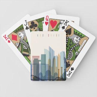 Abu Dhabi, United Arab Emirates | City Skyline Poker Deck