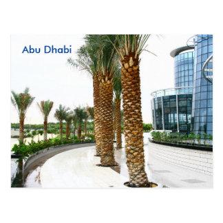 Abu Dhabi Vintage Travel Tourism Ad Postcard
