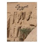 abu simbel kings egypt post card