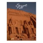 abu simbel stone kings postcard