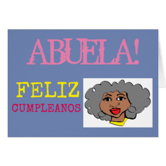 abuela FELIZ CUMPLEANOS Card