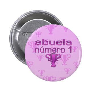 Abuela Número 1 Pinback Button