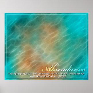 Abundance Abstract Energy Poster