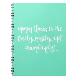 Abundance Affirmation 80-Page Notebook