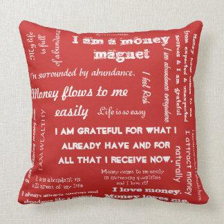 Abundance Affirmation Throw cusion Cushion