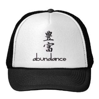 Abundance and Riches, in Kanji Cap