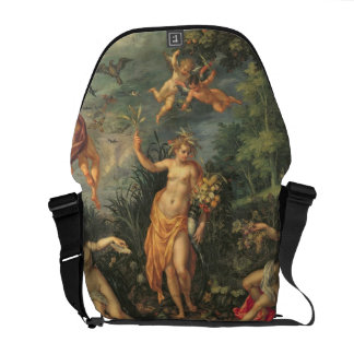 Abundance and the Four Elements, c.1606 (oil on co Commuter Bag