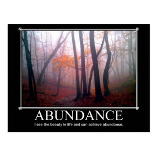 Abundance Custom Postcard