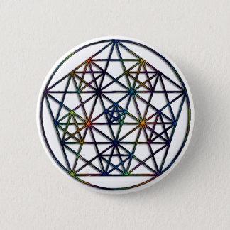 Abundance Sacred Geometry Fractal of Life 6 Cm Round Badge