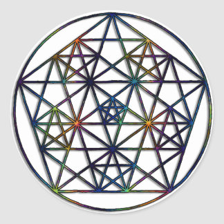 Abundance Sacred Geometry Fractal of Life Classic Round Sticker