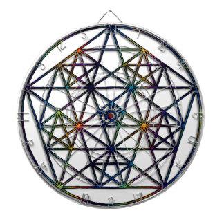 Abundance Sacred Geometry Fractal of Life Dartboard