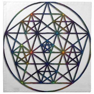 Abundance Sacred Geometry Fractal of Life Napkin