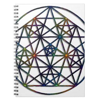Abundance Sacred Geometry Fractal of Life Notebook
